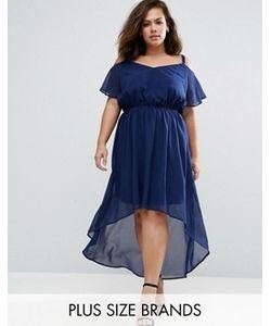 Praslin | Платье С Удлиненным Краем И Открытыми Плечами Plus