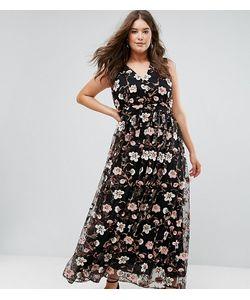 Truly You   Платье Макси С V-Образным Вырезом И Вышивкой