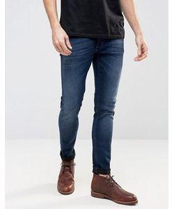 Nudie Jeans Co | Супероблегающие Джинсы Стретч Цвета Индиго Nudie Lin