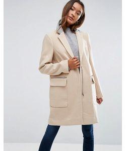 Asos | Пальто Классического Кроя С Контрастным Воротником