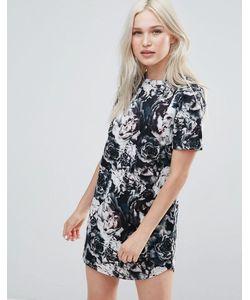 Neon Rose | Платье С Цветочным Принтом