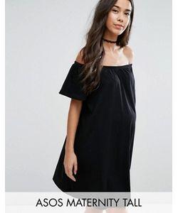 ASOS Maternity | Платье Мини С Открытыми Плечами Tall
