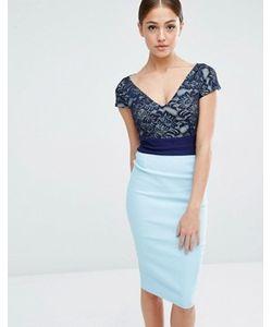 Vesper | Платье-Футляр С Кружевным Верхом