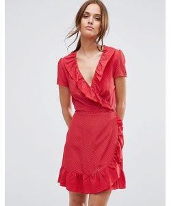 NewLily | Платье В Горошек С Оборками