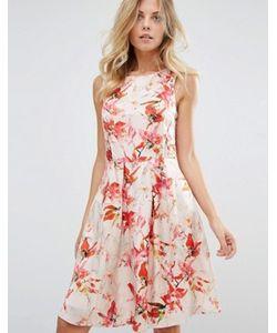 BOSS Orange | Цельнокройное Платье Без Рукавов С Цветочным Принтом