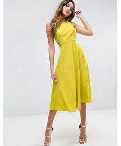 Asos | Платье Миди С Вырезами По Бокам