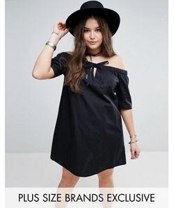 Missguided Plus | Платье С Широким Вырезом И Завязкой