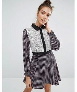 Glamorous | Платье С Длинными Рукавами И Цветочным Принтом