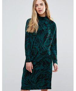 Ganni | Асимметричное Драпированное Платье Doherty