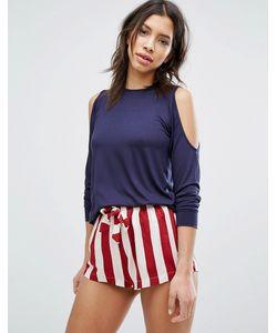 Chelsea Peers | Cold Shoulder Stripe Short Pyjama Set