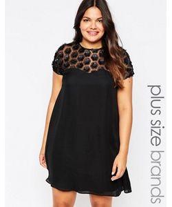 Praslin | Свободное Платье С Накладными Цветами Plus