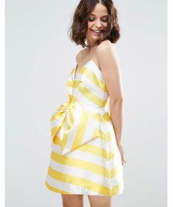 Asos | Платье Мини В Полоску С Бантом Спереди Salon