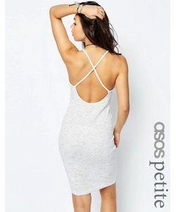 ASOS PETITE | Платье-Комбинация В Рубчик С Перекрестными Лямками Сзади