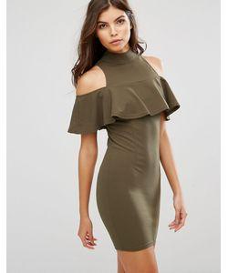 AX Paris   Платье Мини С Высоким Воротом И Оборкой