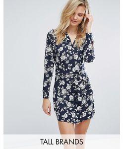 Influence Tall | Платье-Рубашка С Цветочным Принтом