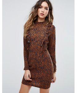 MISSGUIDED | Платье Мини С Леопардовым Принтом И Оборками