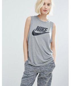 Nike | Серая Обтягивающая Майка