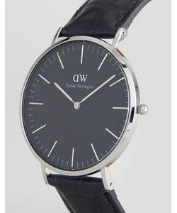 Daniel Wellington | Серебристые Часы На Кожаном Ремешке Classic 40 Мм