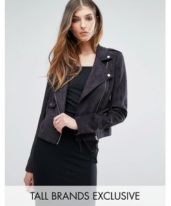 Missguided Tall | Faux Suede Biker Jacket