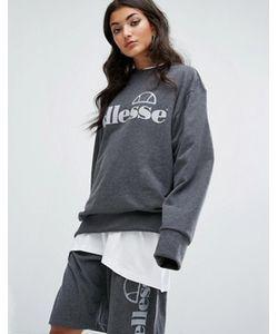 Ellesse | Комбинируемый Oversize-Свитшот С Однотонным Логотипом