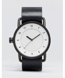 TID | Черные Часы С Кожаным Ремешком И Белым Циферблатом No 1