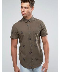 New Look | Рубашка Классического Кроя С Принтом Птиц