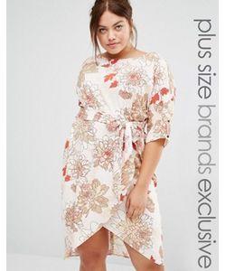 Closet Plus | Платье С Принтом И Запахом Спереди