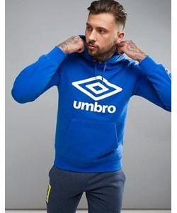 Umbro | Худи Синего Цвета С Крупным Логотипом