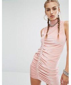 Jaded London | Бархатное Облегающее Платье С Высокой Горловиной Co-Ord
