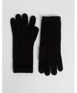 Johnstons Of Elgin | Черные Кашемировые Перчатки