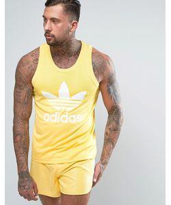 adidas Originals | Желтая Майка В Стиле Ретро Cf5309