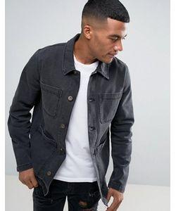 Asos | Черная Выбеленная Джинсовая Куртка