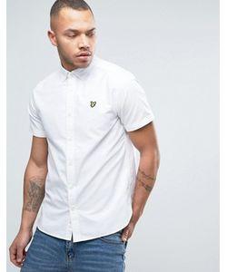 Lyle&Scott | Белая Оксфордская Рубашка Классического Кроя С Короткими Рукавами Lyle Scott