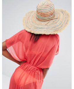 Hat Attack   Пляжная Шляпа В Полоску С Бахромой