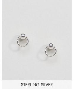 Regal Rose | Серебряные Серьги-Гвоздики С Кольцами Sienna