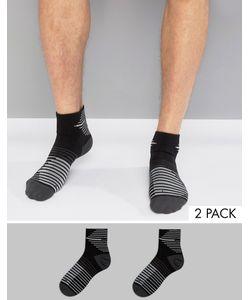 Nike Running | 2 Пары Черных Носков Nike Sx5198-010