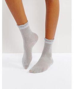 Monki | Носки С Металлизированной Нитью