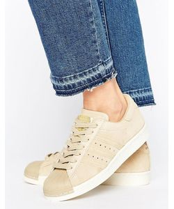 Adidas | Бежевые Кроссовки В Стиле 80-Х Originals Superstar