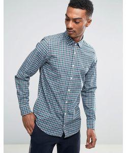 Tommy Hilfiger | Синяя Приталенная Рубашка В Клетку Finny