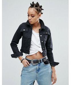 Asos | Выбеленная Черная Джинсовая Куртка