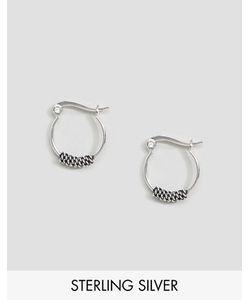 Asos | Серебряные Серьги-Кольца 14 Мм С Цепочками