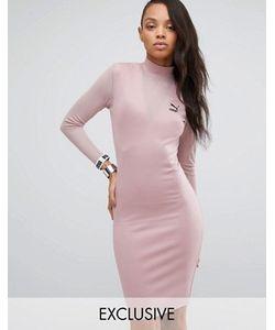 Puma   Облегающее Платье С Сеточкой Эксклюзивно Для