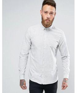 Minimum   Облегающая Рубашка На Пуговицах Из Меланжевого Полотна Teo