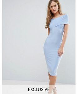 Club L | Платье Миди С Открытыми Плечами