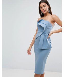 Asos | Платье-Бандо Миди С Бантом