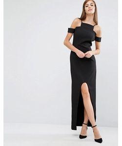 8th Sign | Платье Макси С Вырезами И Асимметричным Краем The