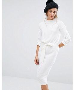 Fashion Union | Трикотажное Платье С Высокой Горловиной И Завязкой На Талии