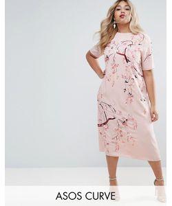 ASOS CURVE | Цельнокройное Платье Миди С Вышивкой