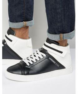 Versace | Черно-Белые Высокие Кроссовки Jeans