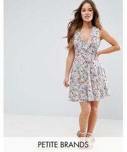 Yumi Petite | Платье С Цветочным Принтом И Оборками
